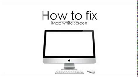 how to whites how to fix white screen on your mac youtube