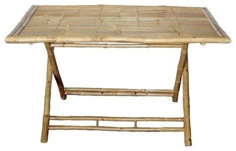bamboo large rectangular folding table tropical