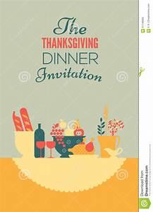 Thanksgiving Invitation Template Stock Vector - Image ...