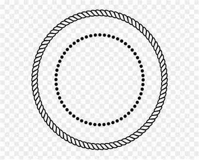 Circle Vector Rope Stamp Clipart