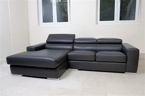 canapé 160 cm convertible casa design canapé cittadino cuir avec méridienne