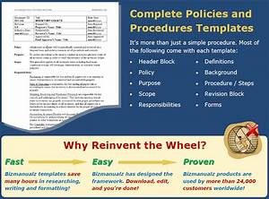 Policies And Procedures Manuals Templates