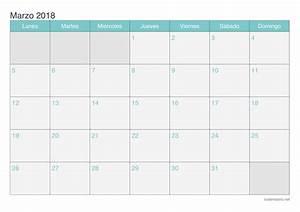 Calendario marzo 2018 para imprimir iCalendario net