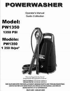 Pw1350 Power Washer Brand Electric Pressure Washers  Parts