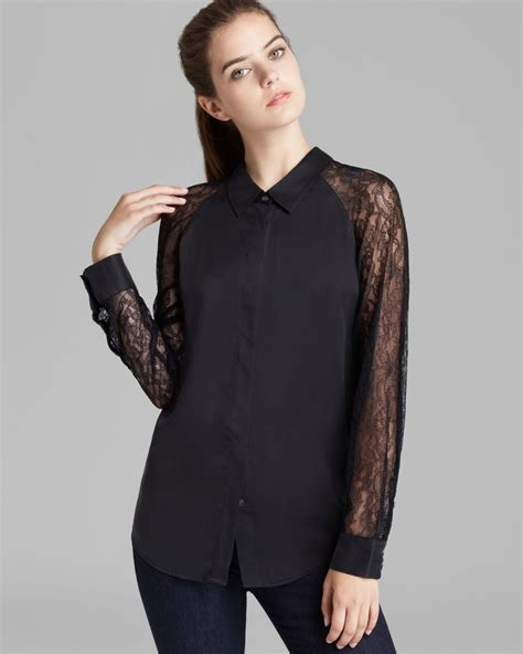 sleeve blouses for equipment quinn blouse with lace sleeves black blouse