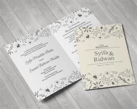 undangan pernikahan unik desain simple  elegan