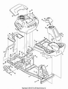 Mtd 13ac26jd058  2015  Parts Diagram For Frame  U0026 Fender