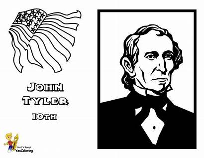 Coloring Tyler John Pages Presidents President Yescoloring