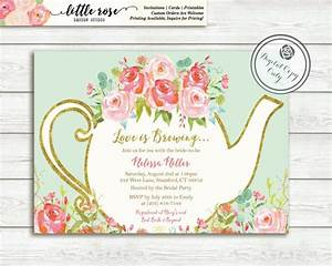 Love Is Brewing Bridal Shower Invitation - Garden Tea ...