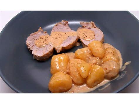filet mignon au maroilles avec chignons et pommes de