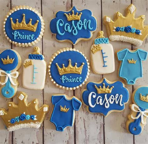 prince baby shower cookies hayley cakes