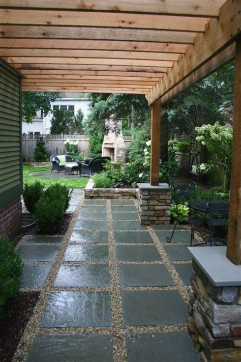 Large Patio Designs by Pea Gravel Patio Ideas Here S A Large Slate And Pea