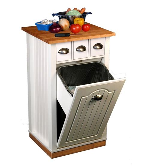 storage kitchen cabinet venture horizon 4124 11wh butcher block bin 2561