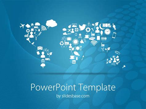 powerpoint map templates symbolic world map powerpoint template slidesbase