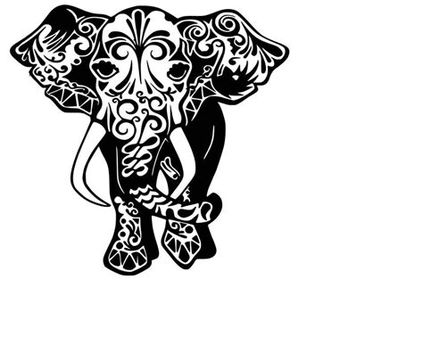 These are 4 elephant graphics for use in cutting machines,printing,and other softwares. Mandala Elephant SVG Cutting File | Etsy