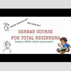 Learn German Free  Lesson 1 Hello, What's Your Name?  With Subtitles In English And French