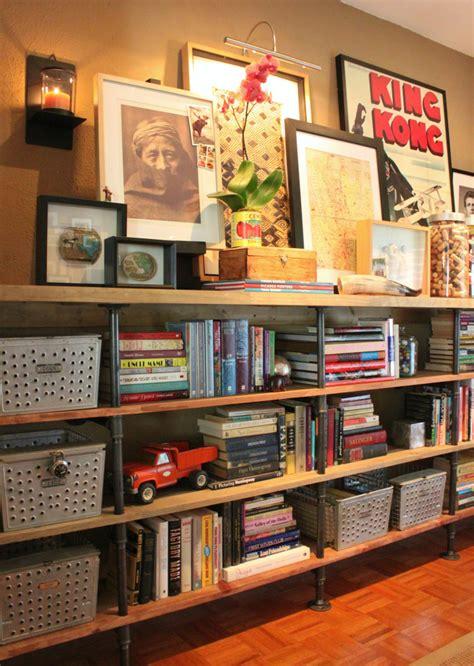 Diy Plans  Build  Pipe Bookshelf Guide Patterns