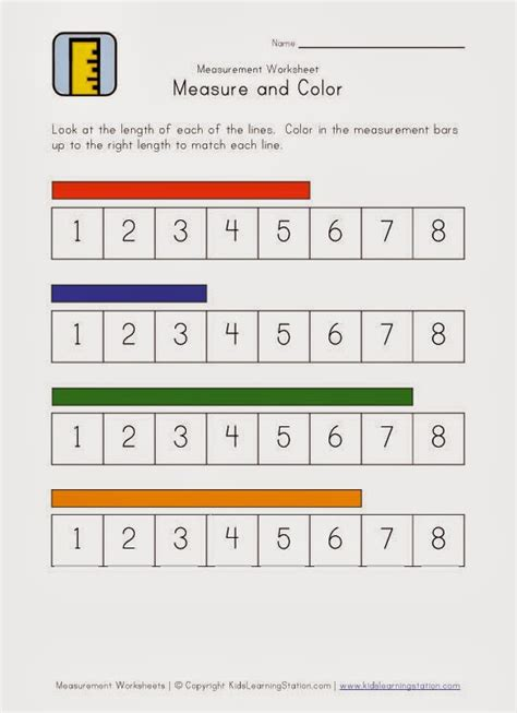 Measurement Worksheets  روضة العلم للاطفال