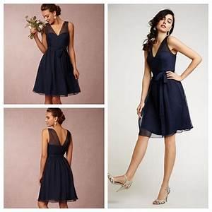 Short Bridesmaid Dresses Navy Blue Plus Size Bridesmaids ...