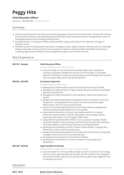 education resume samples  templates visualcv