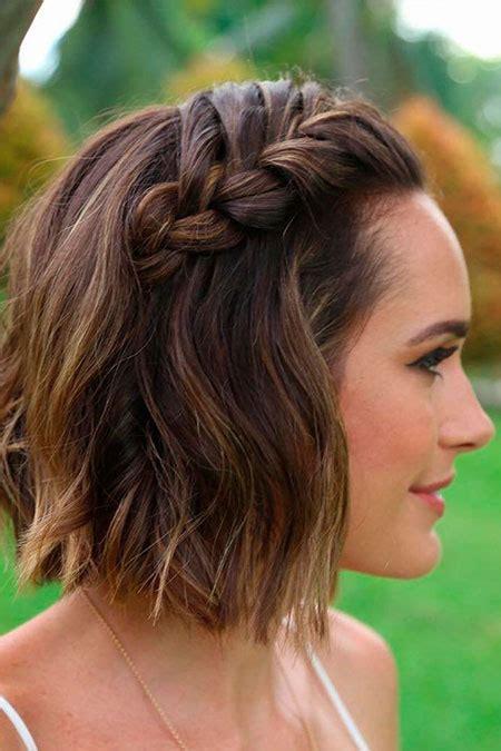 suesse und einfache frisuren fuer kurze haare