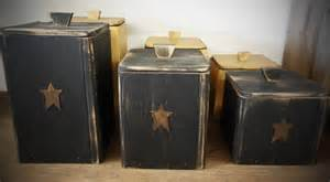 primitive rustic country wooden canister set by maineworksofheart