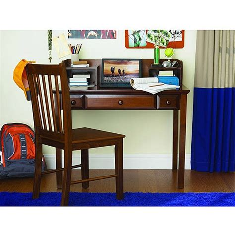 your zone zzz place to be desk hutch and chair walnut