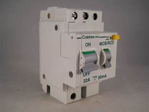 Crabtree Polestar Rcbo 32 Amp 30ma Double Pole Mcb  Rcd