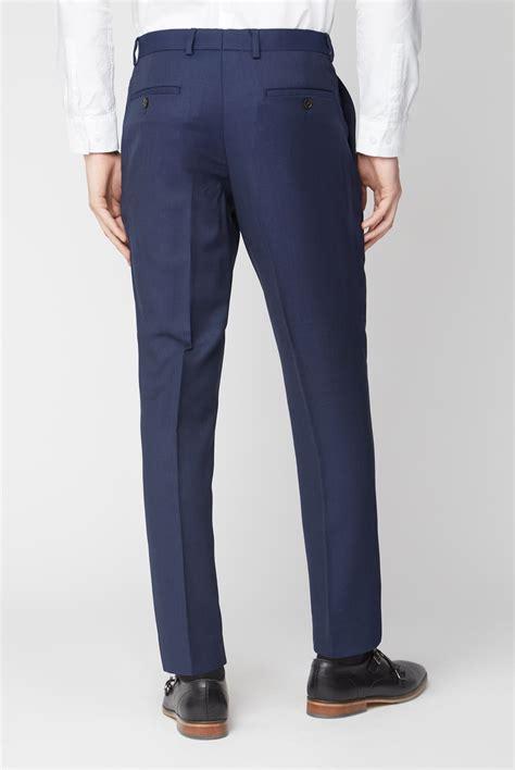 austin reed navy birdseye suit