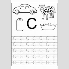 Trace The Letter C Worksheets  Alphabet And Numbers Learning  Letter C Worksheets, Preschool