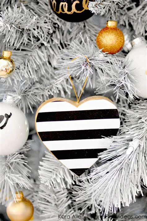 black gold christmas ornaments kara s ideas diy black white gold modern tree ornaments kara s ideas
