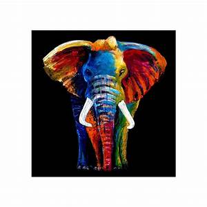Glass Art Majestic Elephant Wall Art