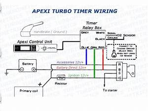 Universal Apexi Auto Timer For Na  U0026 Turbo Black Pen Control W   Blue Digital Led