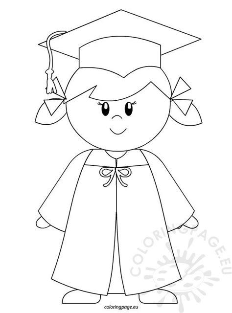 kindergarten graduate girl coloring page