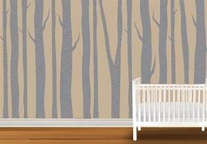 large wall birch tree wall decal forest vinyl sticker With kitchen cabinets lowes with vinyl birch tree wall art