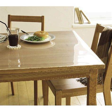 nappe transparente pour table en bois