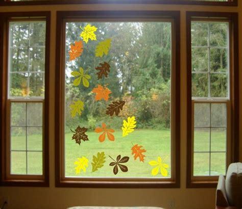 Fensterdeko Herbst Grundschule by Herbst Bl 228 Tter Aussschneiden Fensterbilder Fensterdeko