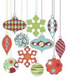 Retro Christmas Ornament Clipart Clip Art, Vintage ...