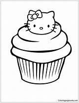 Delicious Coloring Cupcake Pages sketch template