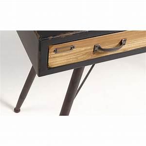 Console A Tiroir : console industrielle en bois et m tal 3 tiroirs refe par ~ Teatrodelosmanantiales.com Idées de Décoration