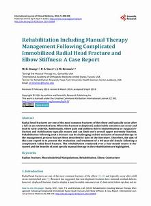 Pdf  Rehabilitation Including Manual Therapy Management