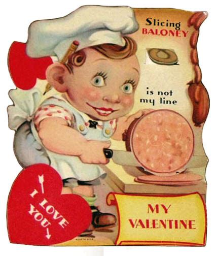 Funny Vintage Valentine Cards: Meat and Weapons ~ Vintage ...