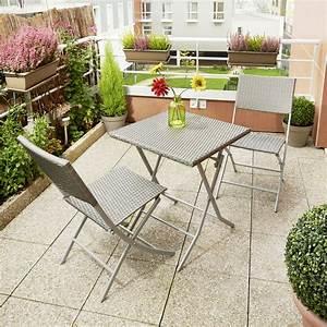 Table De Balcon Pliante : set balcon osaka en acier et fibre de r sine tress e ~ Melissatoandfro.com Idées de Décoration