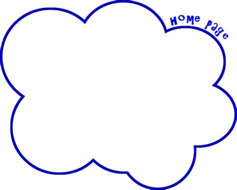 Free Printable Cloud Template Download Clip Art
