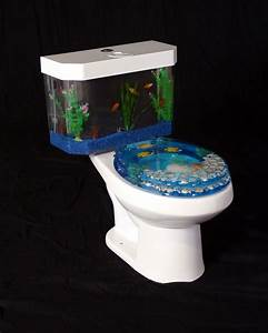 fishnflush fish n flush toilet tank aquarium water closet