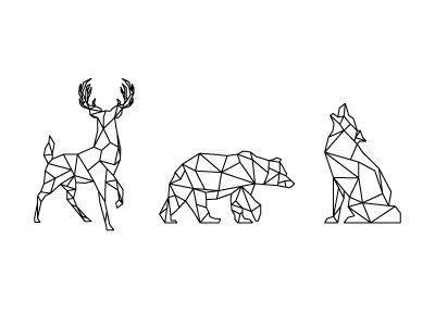 geometrics tatouages loup geometrique dessin