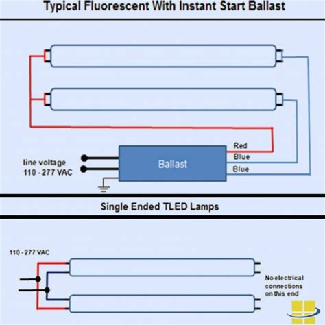 T8 Led Wiring Diagram One End by Lighting L Exquisite Single L Ballast Wiring