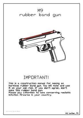 rubber band gun rezinkostrel  arma de elastico
