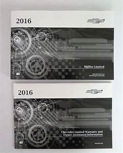 2016 Chevrolet Malibu Limited Owner U0026 39 S Manual Set