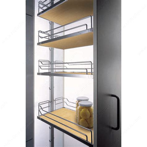 Bathroom Storage Systems by Dispensa Kit With Maple And Chrome Arena Baskets